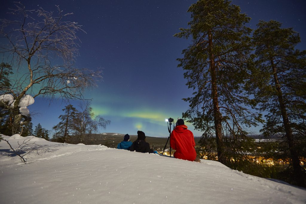 Taking photographs of the Northern Lights in Lapland