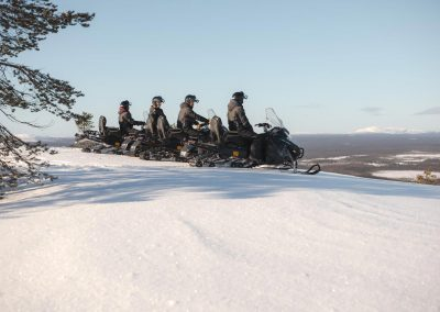 Electric Snowmobile Tours in Lapland